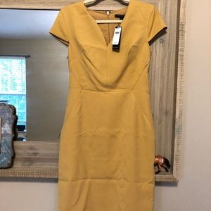 New with tags banana republic dress yellow mustard